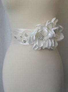 Ivory Bridal Sash Wedding Sash Bridal Belt by TheRedMagnolia, $138.00