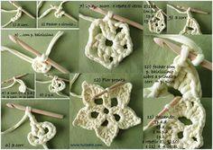 Tutorial flor blanca de trapillo