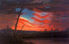 Frederic Edwin Church >> Our Banner in the Sky