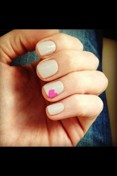 """Valentines ❤ nails OPI """"If you moust, you moust"""" and base is Essie """"Encore"""""""