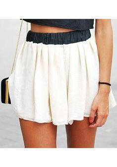 White Chiffon Skirt