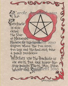 The Pentacle Book of Shadows Parchment Art Print