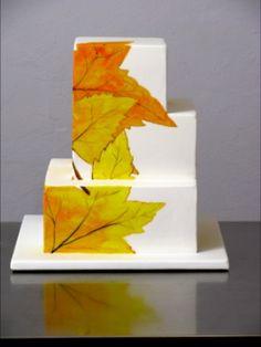 Autumn wedding cake idea. #Celebritystyleweddings.com @Celebstylewed