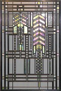 Frank Lloyd Wright window. The Dana-Thomas House, Springfield, IL