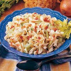 German Hot Noodle Salad Recipe