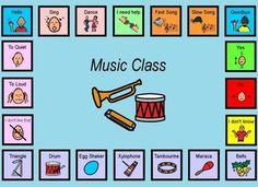 Autism:  Music Class Visual