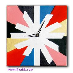 Canvas, tape, paint, and a clock kit