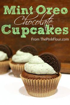 Mint Oreo Chocolate Cupcakes!