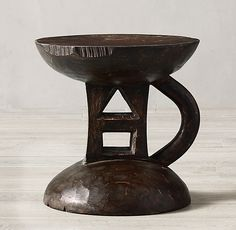 Carved-Wood African Stool 2