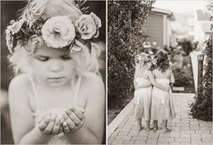 Not feeling the flower crown for your own wedding day hairstyle? Another option is to create a special crown just for the flower girls to wear - they're sure to love it.