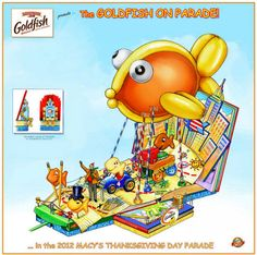Pepperidge Farm unveils Goldfish on Parade float for Macy's Thanksgiving Day Parade
