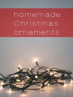 making homemade christmas ornaments