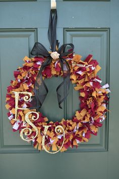 Team Color Rag Wreath