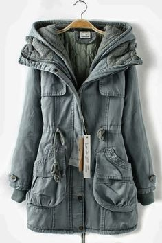 Soft hooded double deck overcoat fashion