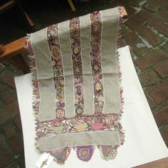 Sophie Digard crochet linen scarf