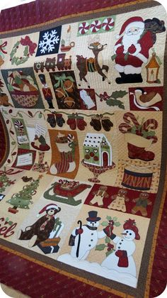 Beautiful christmas quilt