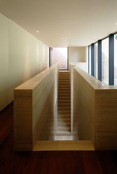 Staircase in travertine. Vincent Van Duysen — VDV Residence.