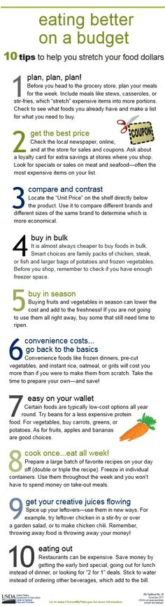 Eat better on a budget: 10 tips to help you stretch your food dollars - MilitaryAvenue.com