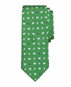I know someone who needs this. Black Sheep Print Tie - Brooks Brothers