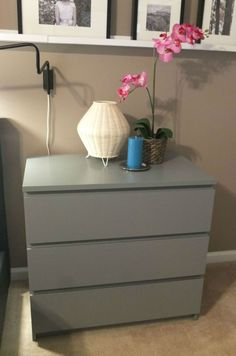 Need more storage next to your bed? The MALM chest has room on top for books, magazines or electronics – plus drawer space for clothing, extra linens and more!