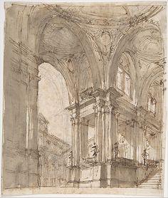 Architectural Study -  Filippo Juvarra  (Italian, Messina 1678–1736)