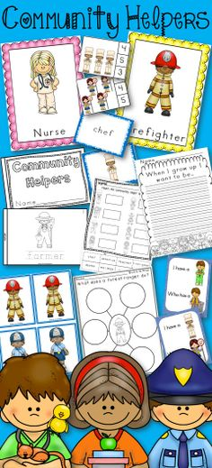 Community Helpers - Posters, book, I have Who has, Memory, Matching Cards