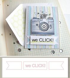 Free 'we CLICK!' sentiment Silhouette cut file (or type your own saying in the banner shape)
