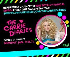 Repin for a chance to win! #TheCarrieDiaries premieres Monday, Jan. 14 at 8/7c. Visit sweeps.pinfluencer.com/thecarriediaries to enter.