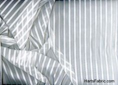 Sheer Drapery Fabric Cream Stripes