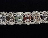 crochet button bracelet.
