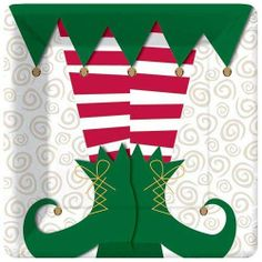 Elf Magic 7 inch Plates - Christmas - Holidays PlatesAndNapkins.com
