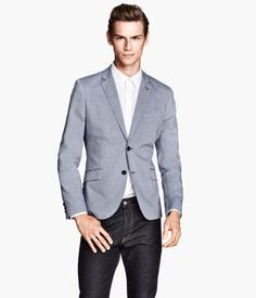 Melange blazer for our stylish men to wear from day to night! H&M. #HMCLASSICS