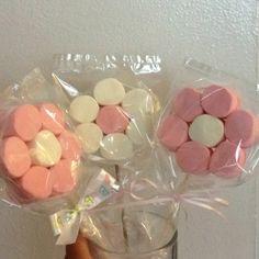 Marshmallow lollipop decorations