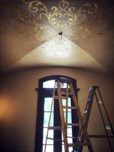 Fabulous Ceiling pattern customized by Modello Designs for Fabulous Finishes