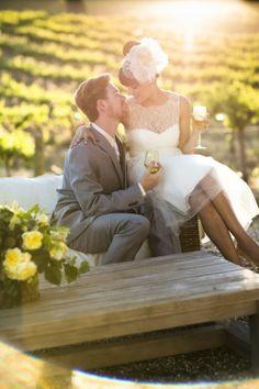wedding idea, wine country, wedding lounge, dresses, wood tables, the dress, vineyard wedding, engagement shoots, outdoor weddings