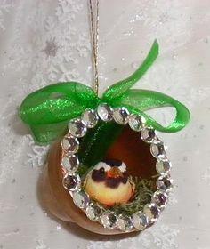 Bird's Nest Clay Pot Christmas Ornaments | FaveCrafts.com