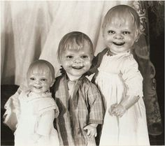 Yikes. Old, scary-ass dolls.
