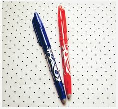 Frixion Pens allow you to mark up with disappearing heat sensitive ink! A must have tool for stitchers. @TheSewingLoft