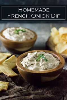 Homemade French Onion Dip recipe #appetizer #party #dip #onions via @foxvalleyfoodie
