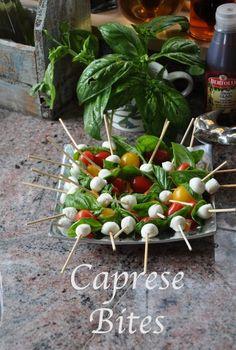 Fresh Basil Recipe – Caprese Bites
