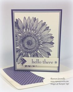 Sunflower Hello - PPA 182 Color Challenge — EZPeasyCards