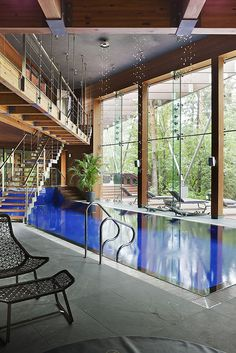 House in Russia with a sumptuous indoor pool