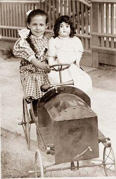 vintag doll, vintage buttons, toy, pedal cars, antique photos, vintage photos, vintag photo, dream car, antiqu photo