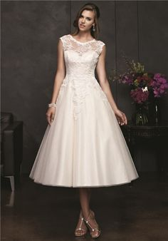 perfect length and shape for tea length wedding dress