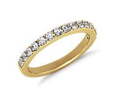 Pavé Diamond Ring in 18K Yellow Gold (1/2 ct. tw.)  #bluenile