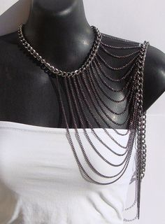Arm Necklace in Mixed Metals by Ashlee by ashleecollection on Etsy, $65.00