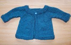 Aran Baby Jacket | AllFreeKnitting.com