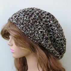 Newport Tam Hat Hippie Dreadlock Sock Slouchy by PurpleSageDesignz, $ 19.00