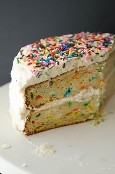 #GlutenFree #Funfetti Cake with #Buttercream frosting