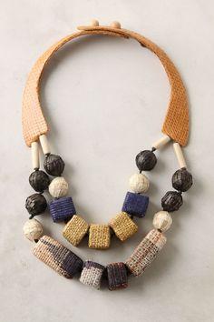 Woven Baubles necklace